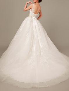 Beaded Mesh Big Hem Evening Dress