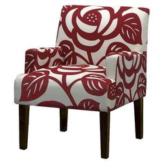 Seedling by Thomas Paul Arm Chair - Dec Rose Red