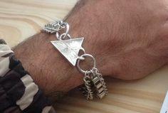 Exclusive handmade cuff,  silver 925