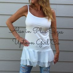 Cami shirt extender This Cami tank is the cutest shirt extender you will ever own. I love this Cami/ shirt extender. I have this in 5 sizes Uptown Girl Tops Camisoles