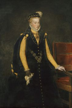 Antonis Mor- Anna of Austria, Queen of Spain, 1570