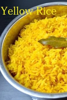 Yellow Mexican Rice, Yellow Rice Recipes, Jasmine Rice Recipes, Chicken Rice Recipes, Yellow Foods, Easy Rice Recipes, Lemon Recipes, Side Dish Recipes, Rice