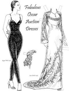 This is a selection of gowns that all went to the Oscars over several decades and were later included in a fund-raising auction. To see more, click here  http://www.fancyephemera.com/hollywoodcostume2.html#OSCARDRESSES