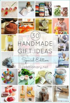 30 handmade gift ideas including a baking kit, clay mask, and lavender soap. #handmade #neighborgifts