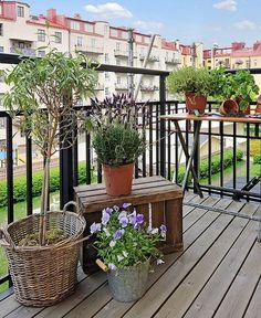 Decoración enconómica para pequeños balcones
