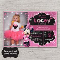 Minnie Mouse invite,Minnie Mouse Birthday invitation,JPG file,Birthday Invite,Minnie invitation,Minnie,Minnie Mouse,Princess,DPP132