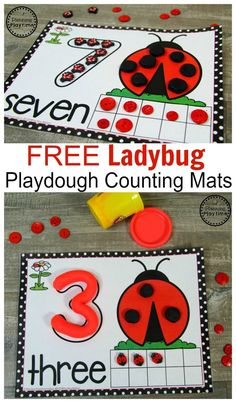 FREE Ladybug Playdough Mats for Spring! A fun way to help preschool kids work on counting and number recognition this spring! Preschool Lessons, Preschool Classroom, Kindergarten Activities, Insect Activities, Spring Activities, Creative Curriculum, Montessori, Kids Work, Butterfly Dragon