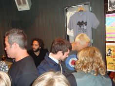 at the Beecake East Coast tour in 09 at Joe's Pub yep that is Elijah Wood and the back of John Crawford's head (Beecake's drummer) and also in the pic is BJ (Billy Johnson) Beecake's guitarist :)