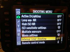 Use your Nikon to do HDR timelapses. We go over Customer user setting, bracketing, and the internal timer. Nikon D7000, Camera Nikon, Photography Settings, Hdr Photography, Shoot Off, User Settings, D Lighting, Multiple Exposure, Color Pop