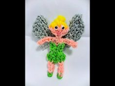 Tinkerbell Tutorial using the Rainbow Loom. Tags : Peter Pan fairy faery pixie