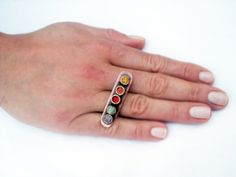 Rainbow ring copper summer colorful adjustable by BaccaraJewelry, $45.00