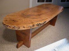 slab maple coffee table