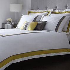 J by Jasper Conran Yellow 'Marlowe' bed linen - Duvet covers & pillow cases - Bedding - Home & furniture - Debenhams Mobile
