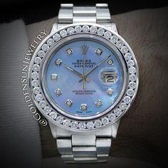 GOLDEN SUN JEWELRY: Rolex DateJust with Russian cut diamond channel set bezel. What are you wearing this spring? @goldensunjewelry #goldensunjewelry #rolex #rollie #datejust #oysterperpetual #russiancut #watch #watches #timepiece #horology #swiss #automatic #eyecandy #realtimepiece #flawless #fashion #fashionista #diamond #designer #diamondwatch #bling #niketalk #luxury #l4p #lavish #couture #bespoke #jewelry