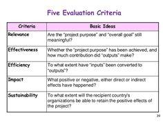 project evaluation criteria list - Google-søgning