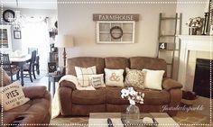nice Living room,rustic family room, farmhouse, ladder...