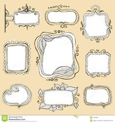 Vintage Hand Drawn Frames Collection - Download From Over 29 Million High Quality Stock Photos, Images, Vectors. Sign up for FREE today. Image: 31564967