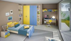 Camerette ragazzi e single | kids room | Pinterest | Kids rooms ...