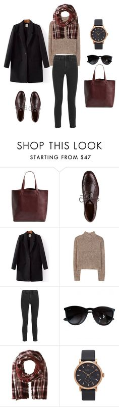 """""""fall outfit"""" by juliabartyzel on Polyvore featuring moda, Madewell, Sesto Meucci, By Malene Birger, Ray-Ban, Diesel i Marc Jacobs"""
