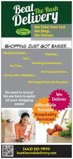 New Hospitality Services in Talbot and Dorchester county MD! Visit: beattherushdelivery.com for more information. Online Printing Services, Digital Marketing Services, Marketing Materials, Hospitality, Signage, Education, Business, Prints, Cards