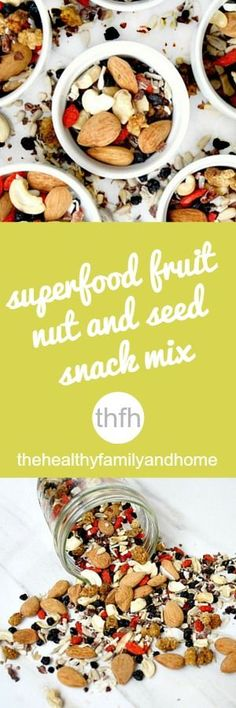 Clean Eating Superfood Fruit Nut and Seed Snack Mix...made with healthy, clean ingredients and it's raw, vegan, gluten-free, dairy-free, paleo-friendly and contains no refined sugar | The Healthy Family and Home