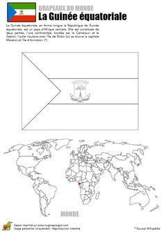 Drapeau de la Guinée Equatoriale à colorier