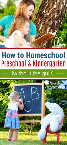 Wondering how to homeschool kindergarten and preschool? Check out this homeschool mom's advice, tips, and recommendations. No guilt necessary!  via @TaunaM