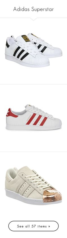 """""""Adidas Superstar"""" by agnes-16 ❤ liked on Polyvore featuring shoes, sneakers, adidas, zapatos, adidas footwear, low top, adidas shoes, low profile sneakers, retro shoes and lace up sneakers"""