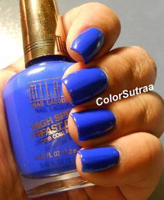 MILANI Nail Lacquer High Speed Fast Dry : Swatches and Review Blue Zoom