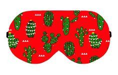 Chritmas Cactus Sleep Sleeping Eye Mask Masks Blindfold Eyes cover patch Eyemask Sleepmask Eyewear Blindfold Eyeshade Eyemasks Sleepmasks by venderstore on Etsy