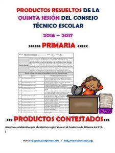 Productos5taSesionCTEEP   Educación Primaria