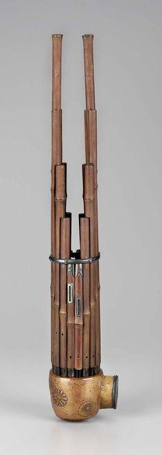 Mouth organ (sho)  1715 Fujiwara Masaoki (Japanese, active early 18th century)  Object Place: Yawata, Japan