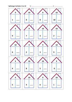splitsen van 9 en 10 Mental Maths Worksheets, Math Activities, Montessori Math, Preschool Lesson Plans, Math Humor, School Readiness, Math Facts, Math For Kids, Math Classroom