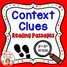 Context+Clues+-Context+Clues+Reading+Passages+offers+print+and+go,+common+core+aligned,+context+clues+activities+for+3rd-5th+grade.++This+context+clues+product+includes+four+instructional+pages+for+help+to+identify+context+clues,+3+different+(full+page)+reading+passages+with+three+pages+of+printable+worksheets+for+each+passage+(all+written+specifically+to+help+students+learn+how+to+use+context+clues+in+reading+passages).
