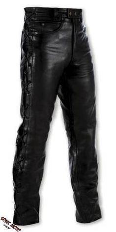 Custom Moto Leather Pants Jeans clasico 5 bolsillos Pantalon America 4a0f3124e