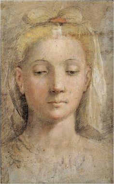 Federico Barocci - drawing of a woman's head
