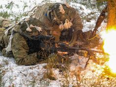 U.S. paratroopers, assigned to Headquarters and Headquarters Company, 2nd Battalion, 503rd Infantry Regiment, 173rd Airborne Brigade, conducting a training mission at the 7th Army Training Command's Grafenwoehr Training Area, Germany, Jan. 28, 2017.