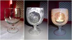 Znalezione obrazy dla zapytania świeczniki decoupage