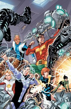 Legion Of Super-Heroes (Ultra Boy, Chameleon Boy, Cosmic Boy, Lightning Lad, Saturn Girl and Shrinking Violet)