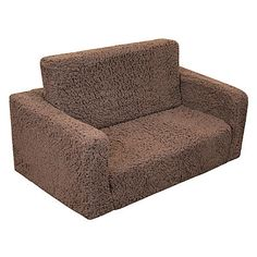 Komfy Kings Toddler Classic Flip Sofa - Chocolate Sherpa $59.41