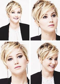 I'm not chopping my hair this short, but I love Jennifer Lawrence's new haircut.