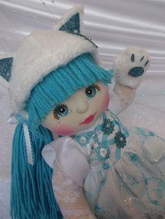 OOAK Mattel My Child Doll ~ Aqua Kitty