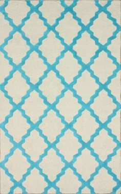 Rugs USA Homespun Moroccan Trellis Turquoise Rug now 75% off!