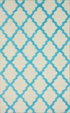 Rugs USA Homespun Moroccan Trellis Turquoise Rug