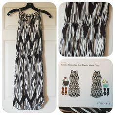 Renee C Kateline Sleeveless Ikat Elastic Waist Dress. Stitch Fix