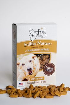 Sniffer Nutters - Crunchy Baked with Peanut Butter and Vanilla. Wheat-Corn-Soy Free!