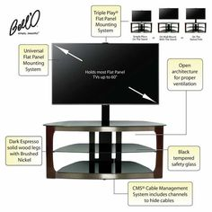 Bell O Pamari Collection A V Cabinet For Flat Panel Tvs
