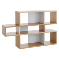 ANTONN Low oak/white shelving unit