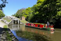 Bingley Locks, Nr. Bradford, Yorkshire, England.