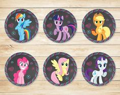 Hey, I found this really awesome Etsy listing at https://www.etsy.com/listing/211035036/printable-my-little-pony-cupcake-toppers